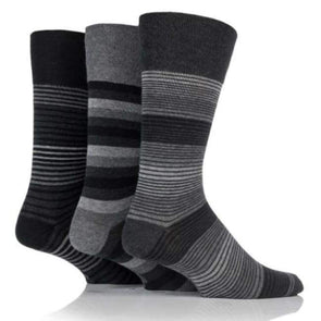 Non Binding Socks For Men Or Women In Monochrome Stripes - Monochrome Stripe - Diabetic Socks