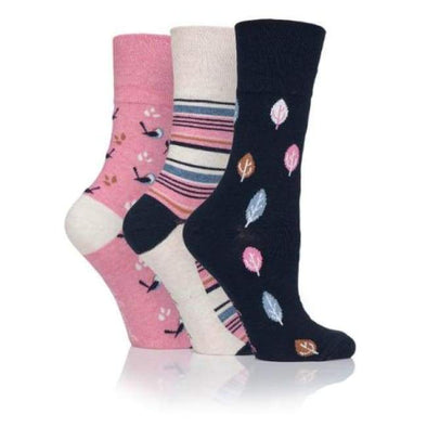 Non Binding Socks For Women In Nature Prints - Nature Prints - Diabetic Socks