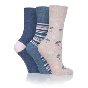 Non Binding Socks For Women In Rainy Day Prints - Rainy Day - Diabetic Socks