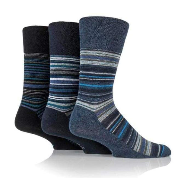 Non Binding Socks For Men Or Women In Stanley Stripe - Stanley Stripe - Diabetic Socks