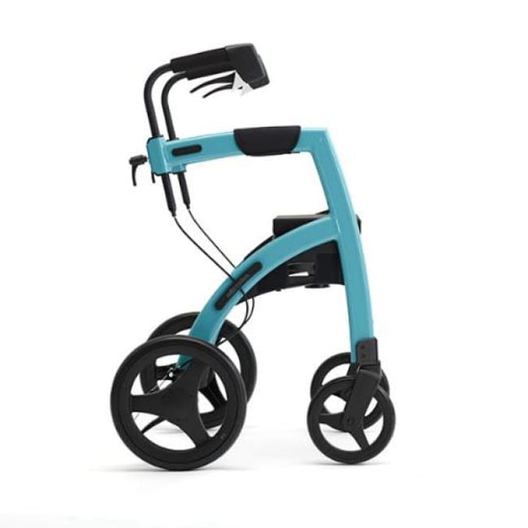 The New Rollz Motion 2 - Rollator Walker And Transport Chair In One - Regular / Island Blue - Rollator