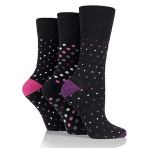Non Binding Socks For Women In Multi Dots - Multi Dots - Diabetic Socks
