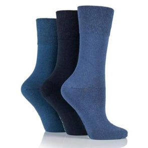 Non Binding Socks For Women In Navy Mix - Navy Mix - Diabetic Socks