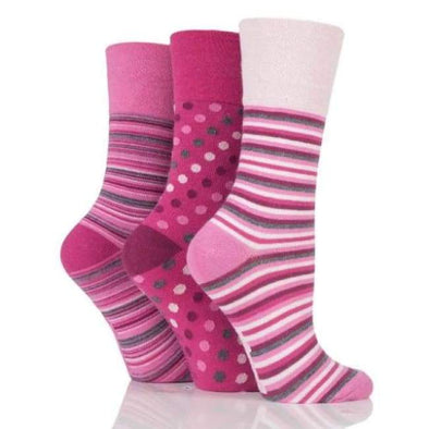 Non Binding Socks For Women In Pinks - Pinks - Diabetic Socks