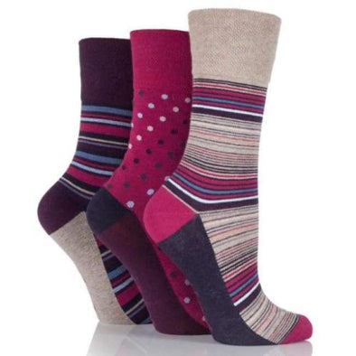 Non Binding Socks For Women In Amy Stripe - Amy Stripe - Diabetic Socks