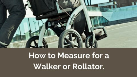 how to measure for a walker