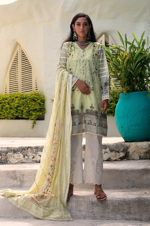 Qalamkar | Luxury Lawn | 15