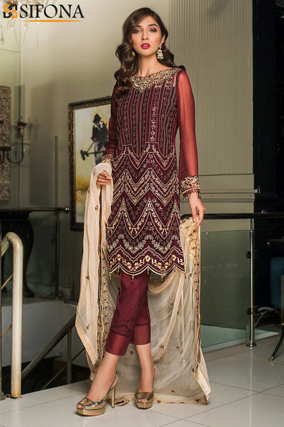 Maria B Mbroidered Eid Ready to Wear D4