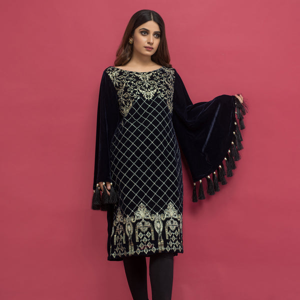 Panache Embroidered Velvet Kurti VOL 2 - Design 7