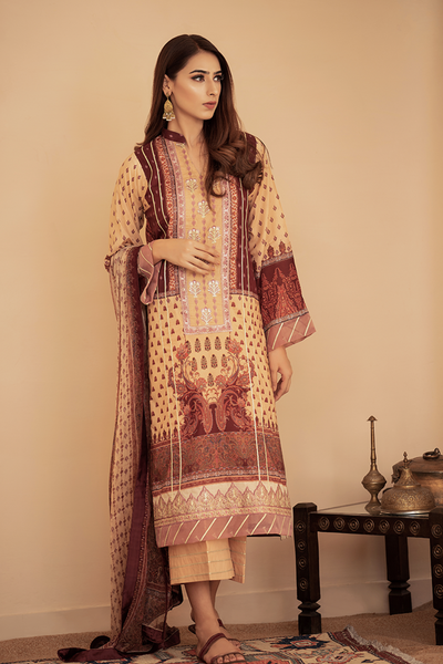 Abyaan | By House of Qalamkar | Festive Lawn | Anaya 05