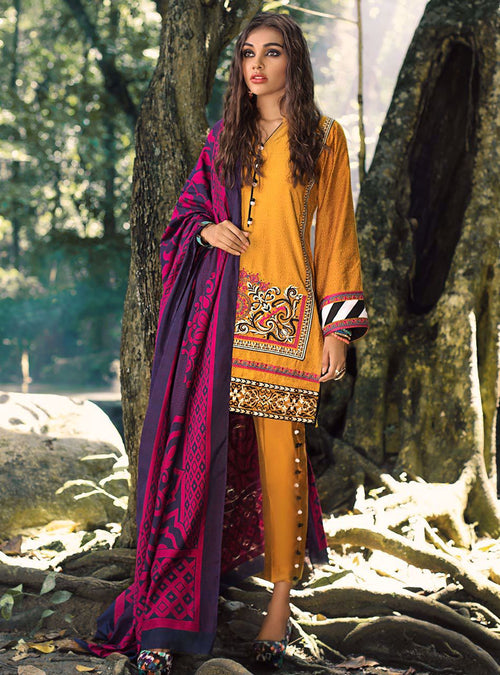 Haniyas, Zainab Chottani | Luxury Shawl Edition | LSE - 10 AUTUMN SUNSET