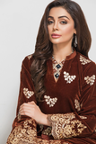 Panache Embroidered Velvet Kurti - Design 2