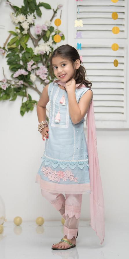Phatyma Khan Kids Eid 19 - Ethyl Blue