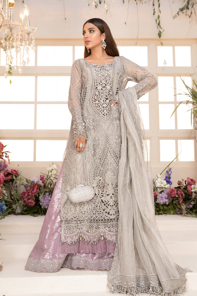 Maria B | Mbroidered 21 | Grey and Lilac BD-2108