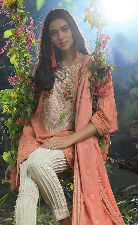 Pushtani Embroidered by LSM - Design P993