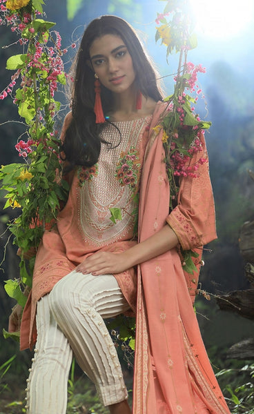 Pushtani Embroidered by LSM - Design P991