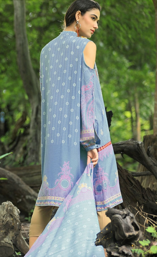 Pushtani Embroidered by LSM - Design P995
