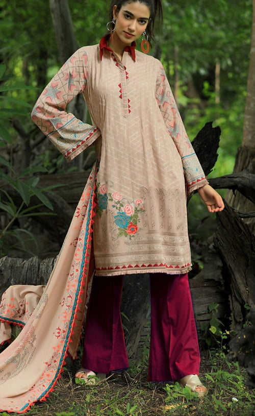Pushtani Embroidered by LSM - Design P996