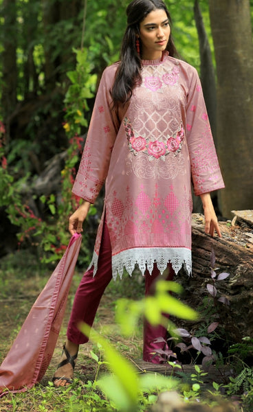 Pushtani Embroidered by LSM - Design P997