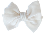 Cream Silk Velvet Limited Edition Midi Bow