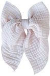 Blush Gauze Oversized Sailor Bow