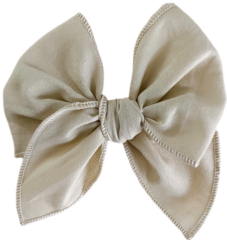 Greige Sailor Bow