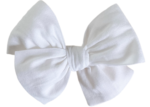 Basic White Midi Bow
