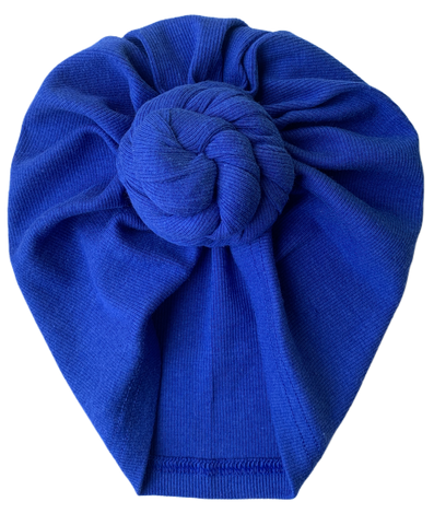 Royal Blue Ribknit Turban