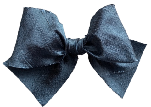 Denim Silk Limited Edition Midi Bow