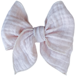 Blush Gauze Sailor Bow