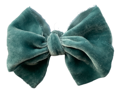 Aquamarine Silk Velvet Limited Edition Midi Bow
