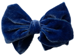 Royal Blue Silk Velvet Limited Edition Midi Bow