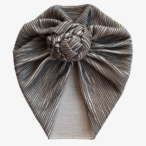 Black Stripe Turban