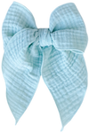 Sage Gauze Oversized Sailor Bow