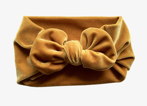 Honey Velvet Bow