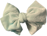 Seafoam Silk Velvet Limited Edition Midi Bow