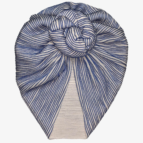 Blue Stripe Turban