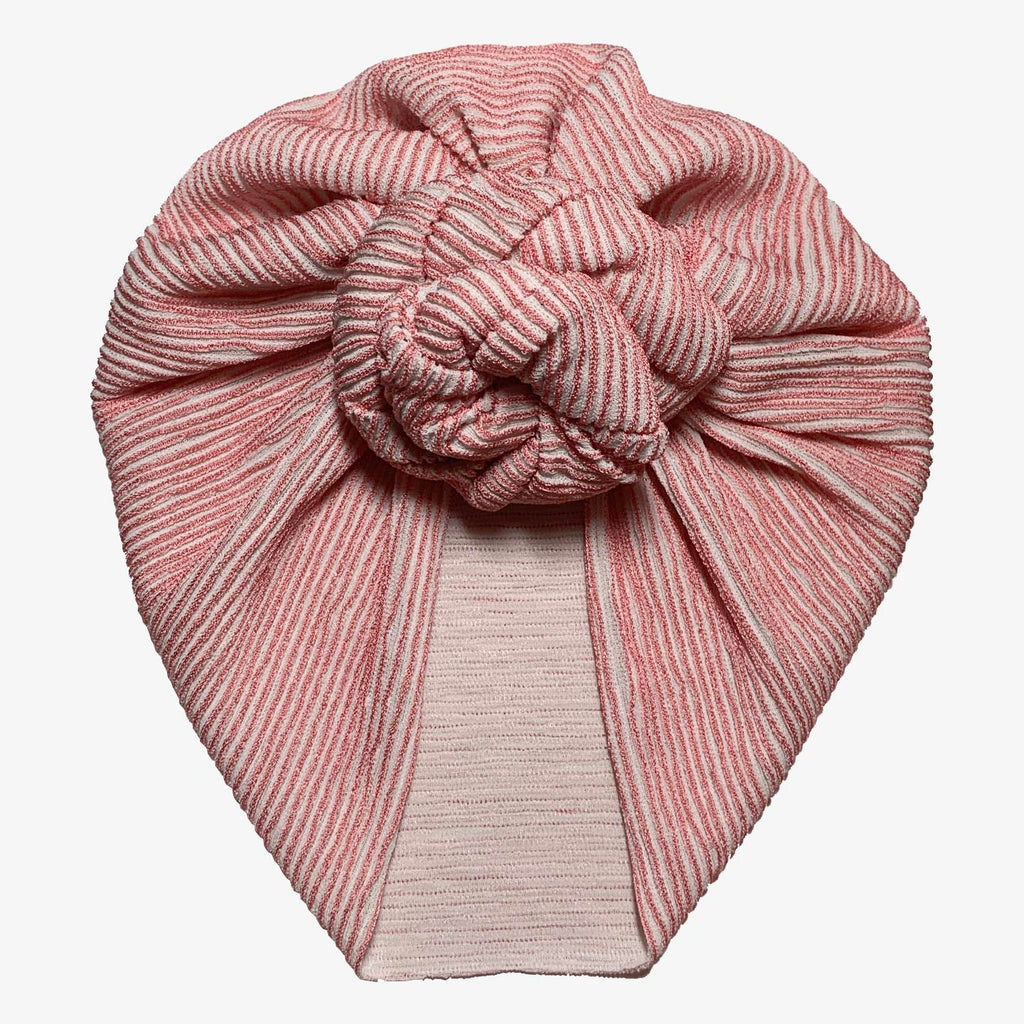Coral Stripe Turban