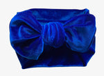 Royal Blue Velvet Bow