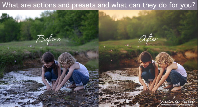What are lightroom presets and photoshop actions?