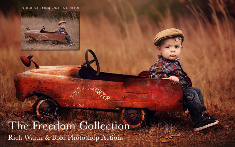 The Freedom Collection - Warm Rich Bold Earthy Tone Photoshop Actions