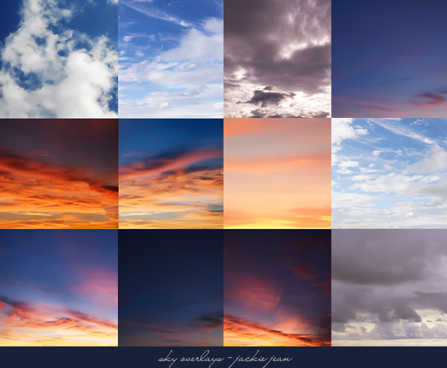 Jackie Jean's Sky Overlays for Photoshop