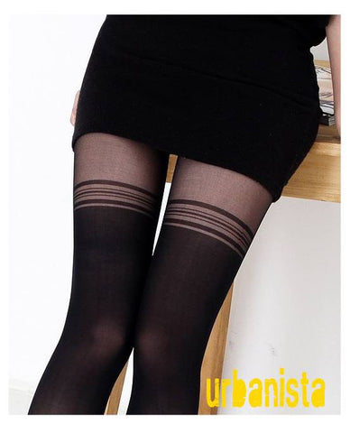 Faux Thigh High Tights