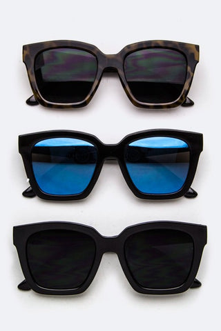 Chunky Square Frame Sunglasses