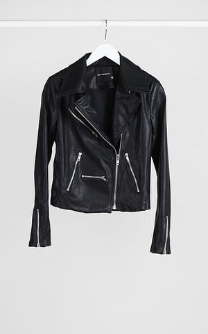 Faux soft and supple Leather Moto Jacket