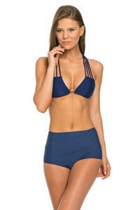 Navy High Waisted Bikini Bottoms