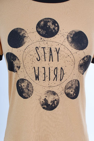 STAY WEIRD Ringer Tee
