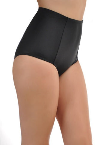 Black High Waisted Bikini Bottoms