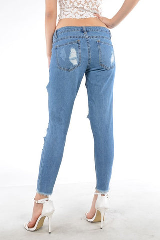 Destroyed Jeans With