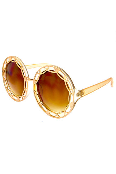 Heavy Metal Round Sunglasses